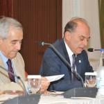 Από την έναρξη του συνεδρίου: (από αριστερά) κ. Δ. Μηνάς, κ. Δ. Συκιώτης